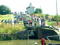 Foxton Locks near Langton Brook Farm B&B Bed and Breakfast Market Harborough Leicestershire